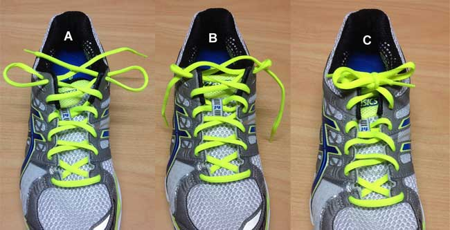 Shoe Lacing to Minimize Shoe Slipping