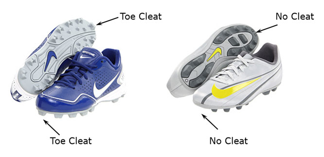 Cleats With No Toe Cleat