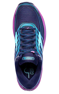 Purple performance enhancing orthopedic running shoe by SoleScience in London ON